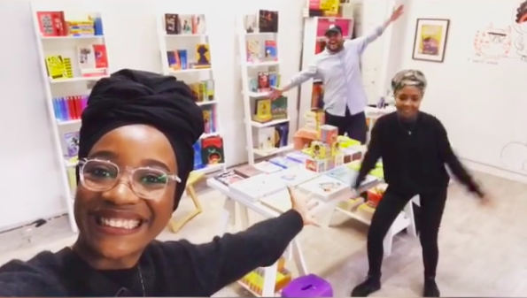 Inside the #readtheonepercent pop-up book shop in Brixton (Credit: knightsof Instagram)